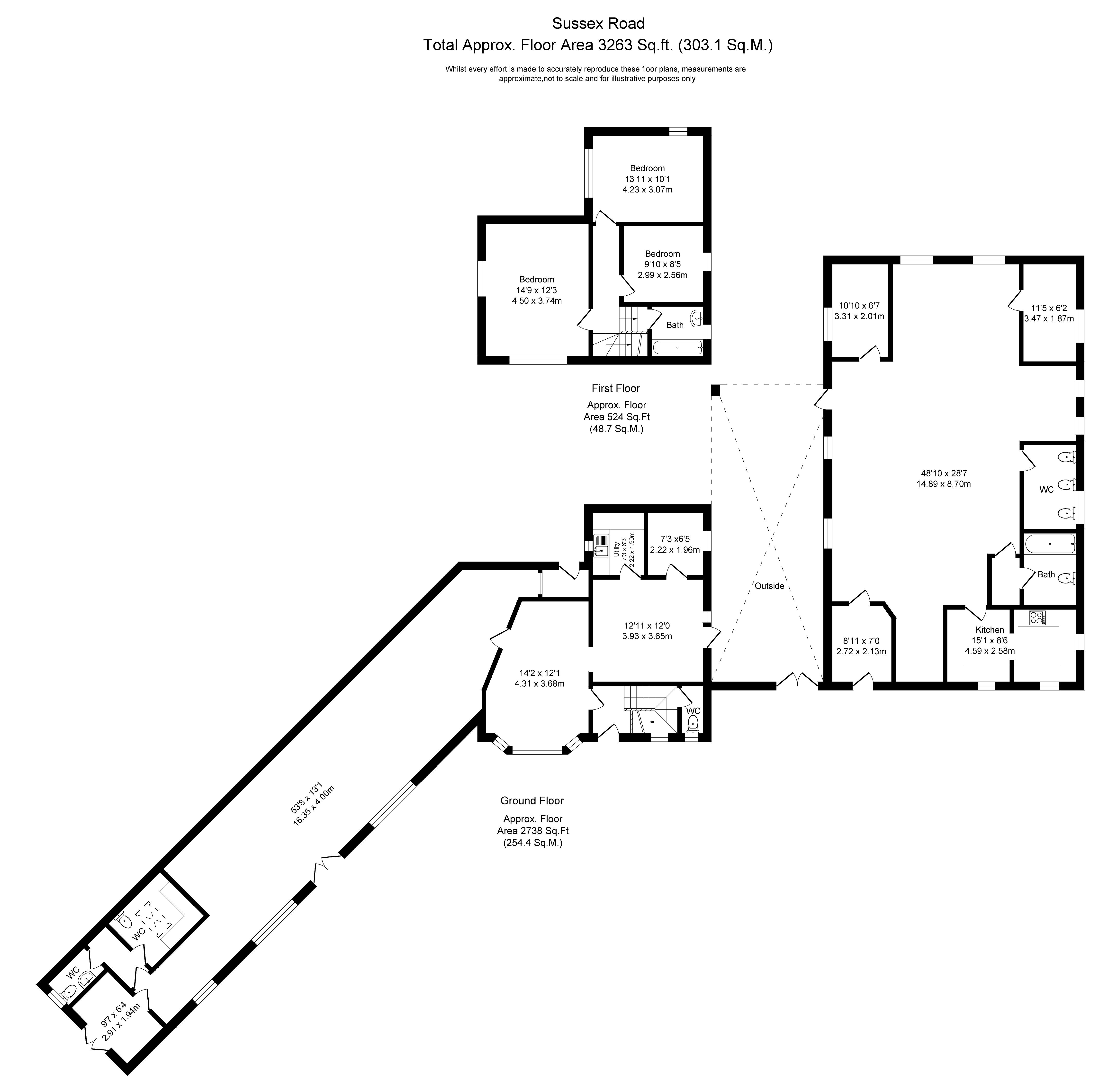 Floorplans For Sussex Road, Southport